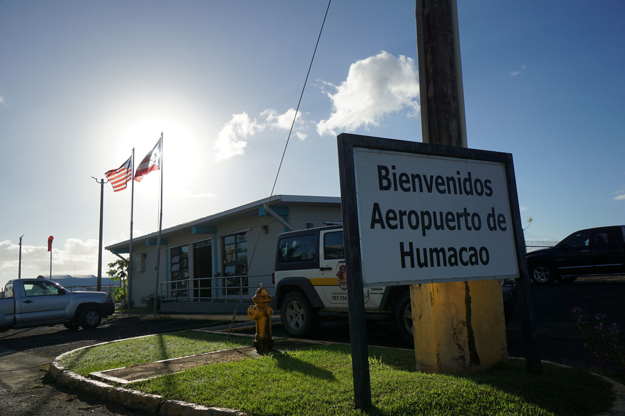 Welcome sign to La Zona Puerto Rico Skydiving